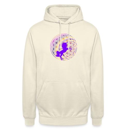 fleur de vie licorne - Sweat-shirt à capuche unisexe