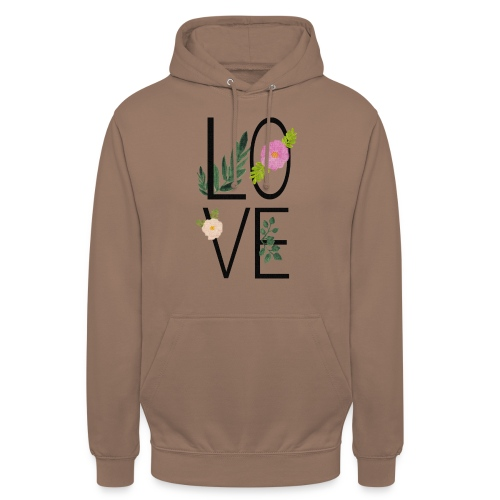 Love Sign with flowers - Unisex Hoodie