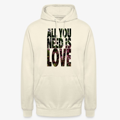 All You need is love - Bluza z kapturem typu unisex