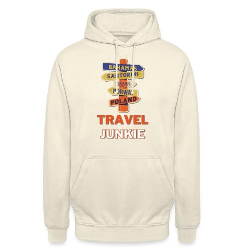 traveljunkie - i like to travel - Unisex Hoodie