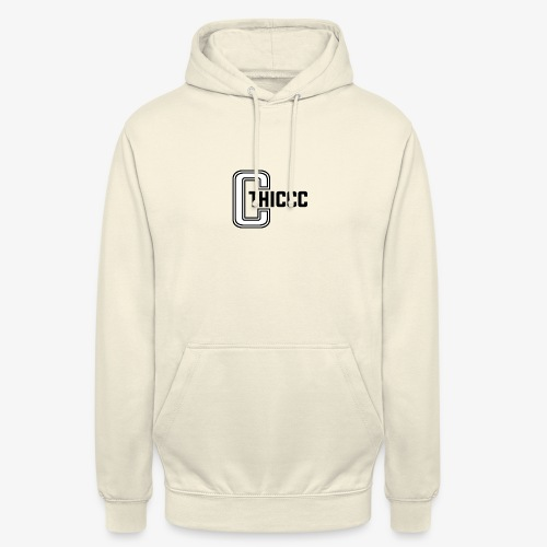 thiccc logo WHITE and BLACK - Unisex Hoodie