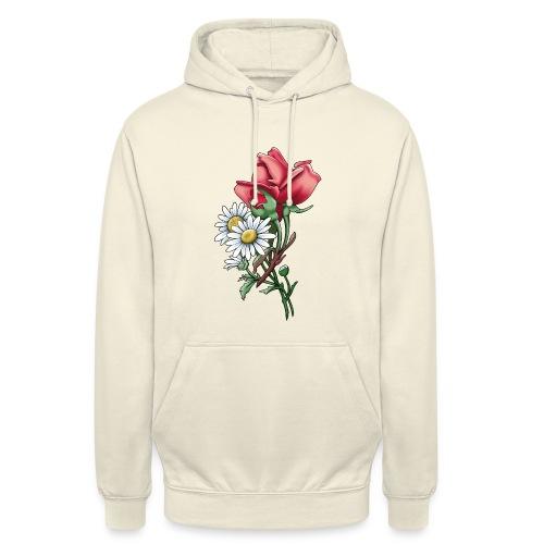 """Päivänkakkara ruusunippu tekstiilit ja lahjat - Huppari """"unisex"""""""