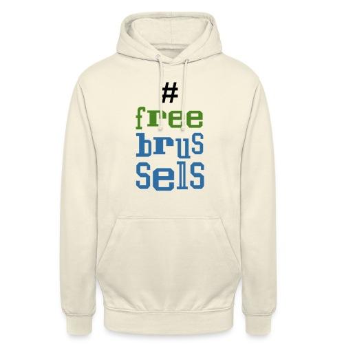 Bruxelles libre - Sweat-shirt à capuche unisexe