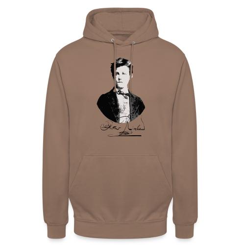 Rimbaud+signature.png - Sweat-shirt à capuche unisexe
