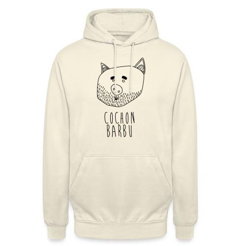 Cochon barbu - Sweat-shirt à capuche unisexe