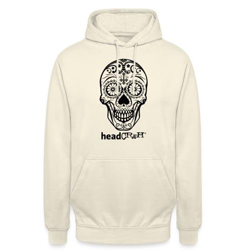 Skull & Logo black - Unisex Hoodie