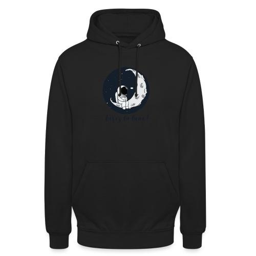 Visez la lune ! - Sweat-shirt à capuche unisexe