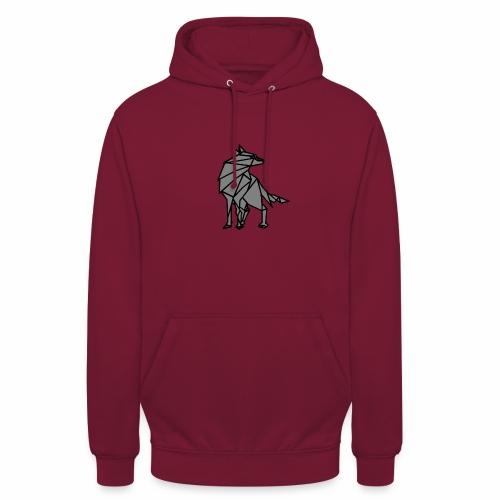 loup geometrique - Sweat-shirt à capuche unisexe