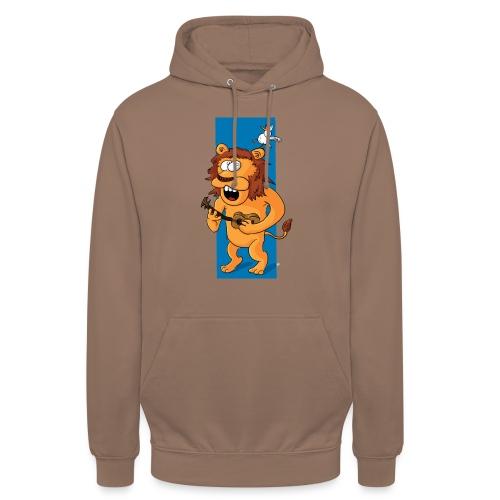 L'ours-lion et l'oiseau - Sweat-shirt à capuche unisexe