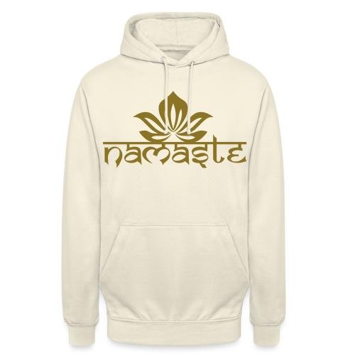 Namaste Lotus Yoga Motiv in Trendfarben MEGA - Unisex Hoodie