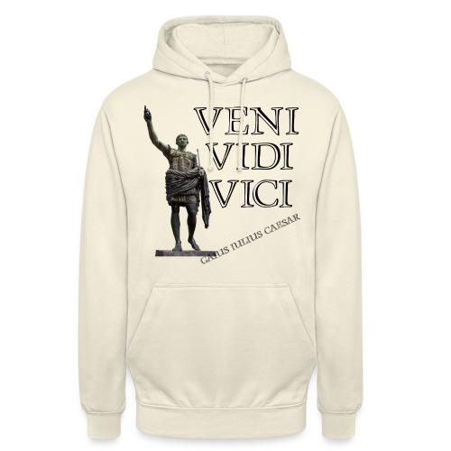 Giulio Cesare, veni vidi vici - Felpa con cappuccio unisex