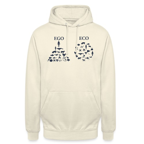 Ego VS Eco - Felpa con cappuccio unisex