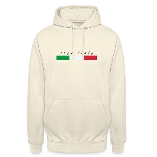 Info Italy Design - Felpa con cappuccio unisex