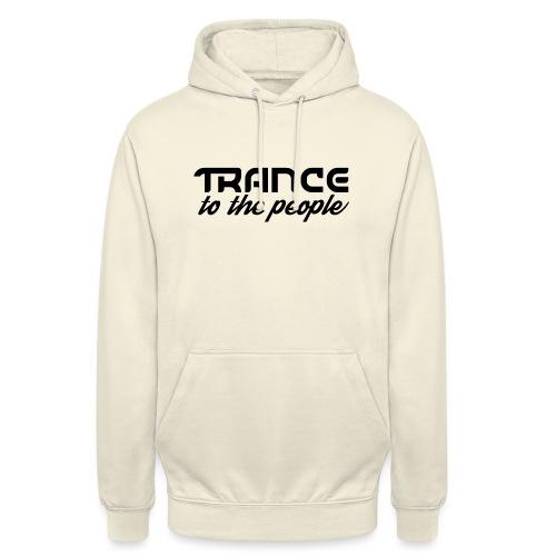 Trance to the People Sort Logo - Hættetrøje unisex
