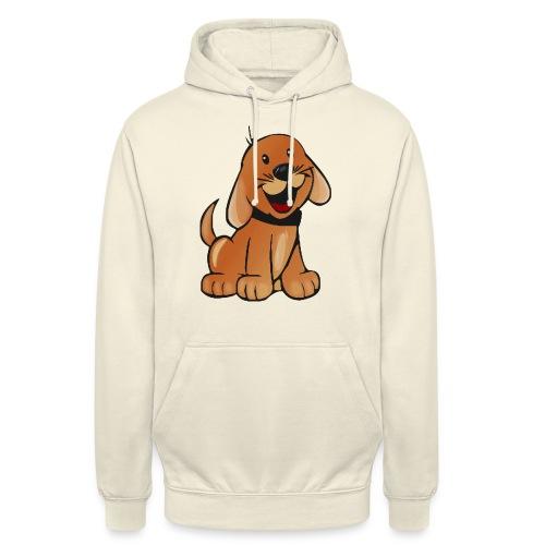 cartoon dog - Felpa con cappuccio unisex
