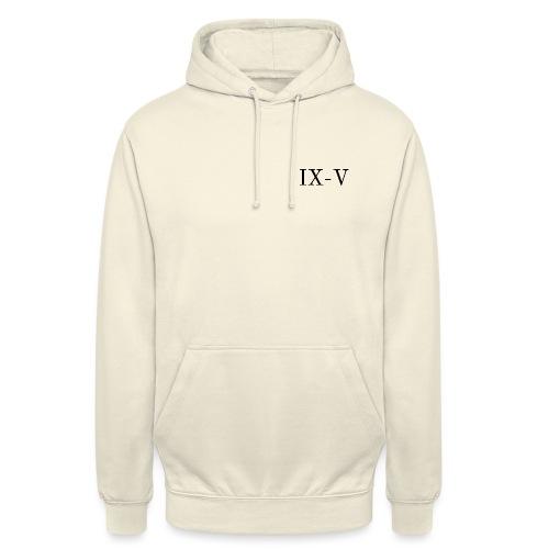 IX V - Felpa con cappuccio unisex
