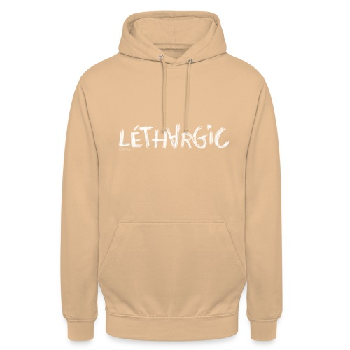 lethargic blanc - Sweat-shirt à capuche unisexe