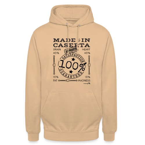 1.02 Made in Caserta - Felpa con cappuccio unisex