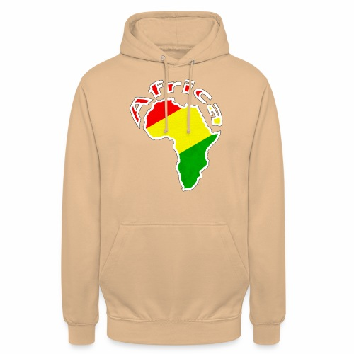 Afrika - rot gold grün - Unisex Hoodie