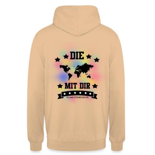 Die Welt mit dir bunt weiss - Klamottendesigns - Unisex Hoodie
