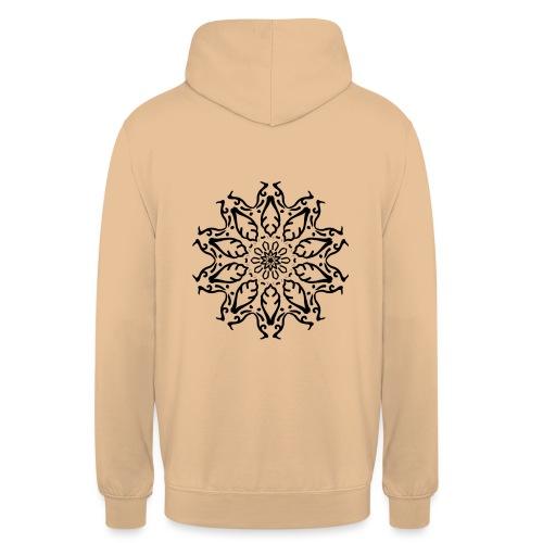 fleur - Sweat-shirt à capuche unisexe