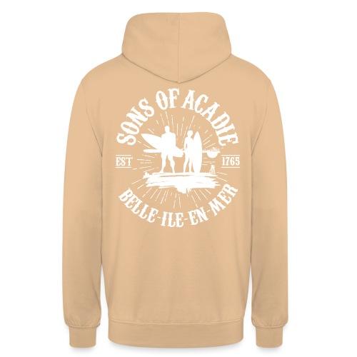 SONS OF ACADIE SURFEURS - Sweat-shirt à capuche unisexe