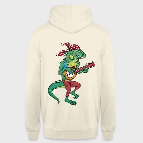 Tzigane iguane avec Banjo - Sweat-shirt à capuche unisexe