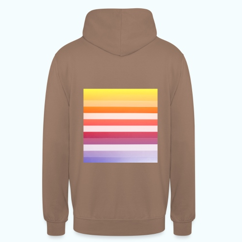 Rainbow Abstract Acrylic Painting - Unisex Hoodie