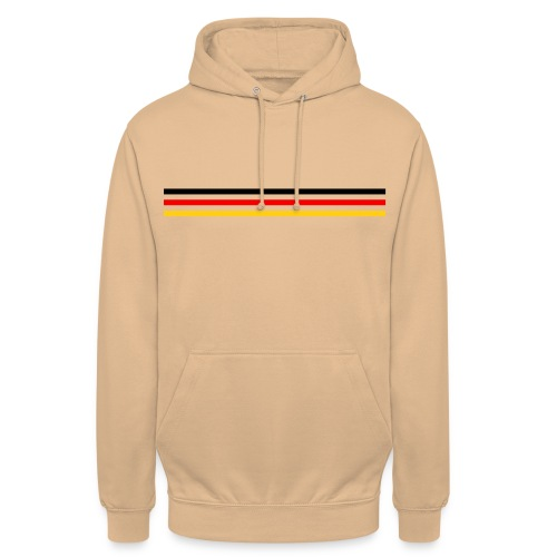 Trait Germany version 1 grand - Sweat-shirt à capuche unisexe