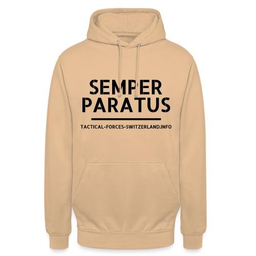 Semper Paratus noir - Sweat-shirt à capuche unisexe