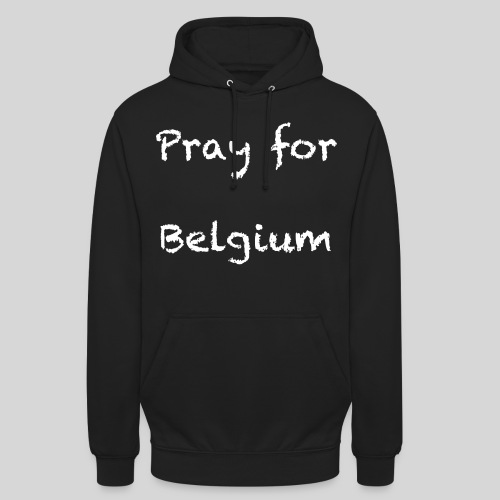 Pray for Belgium - Sweat-shirt à capuche unisexe