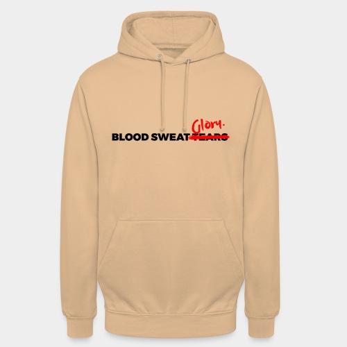 BLOOD SWEAT GLORY black - Unisex Hoodie