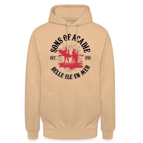 SONS OF ACADIE SURFEURS ROUGE - Sweat-shirt à capuche unisexe