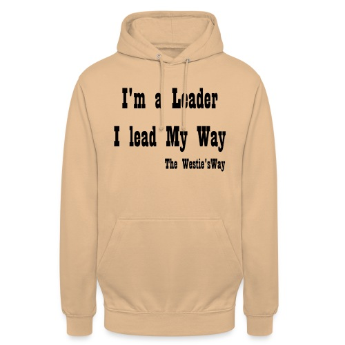 I lead My Way Black - Bluza z kapturem typu unisex