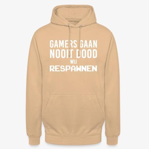 Gamers gaan nooit dood wij respawnen! - Hoodie unisex
