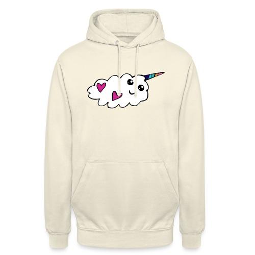 Nuage licorne Kawaii - Sweat-shirt à capuche unisexe