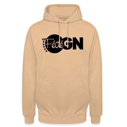Logo FédéGN pantone - Sweat-shirt à capuche unisexe