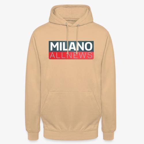 Milano AllNews Logo - Felpa con cappuccio unisex