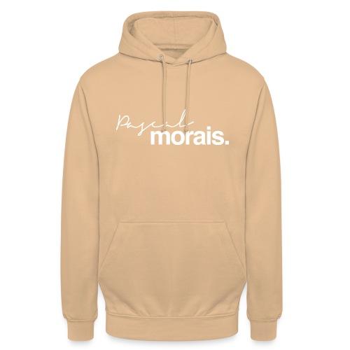 Pascal Morais logo white - Unisex Hoodie