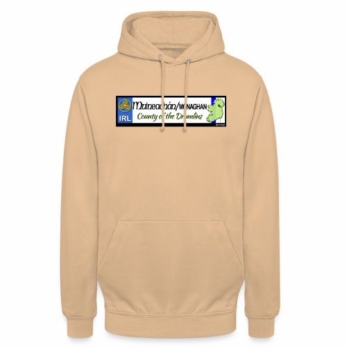 MONAGHAN, IRELAND: licence plate tag style decal - Unisex Hoodie