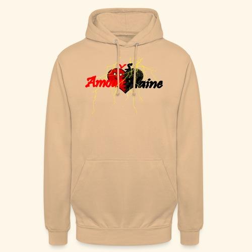 Amour & Haine - Sweat-shirt à capuche unisexe