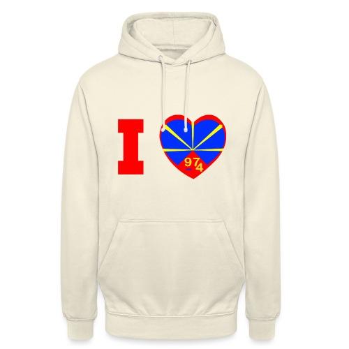 I love 974 - Lo Mahaveli - Sweat-shirt à capuche unisexe