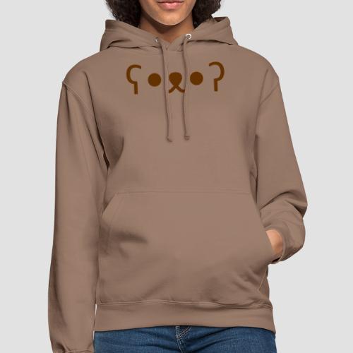 Kuma Kaomoji (Marron) - Sweat-shirt à capuche unisexe