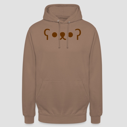 Kuma Kaomoji (Marron) - Sweat-shirt à capuche unisexe
