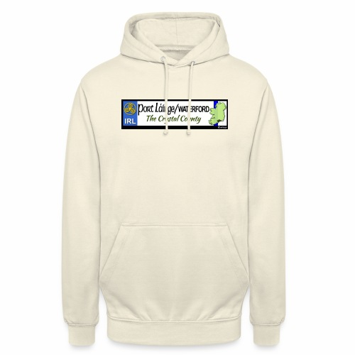 WATERFORD, IRELAND: licence plate tag style decal - Unisex Hoodie