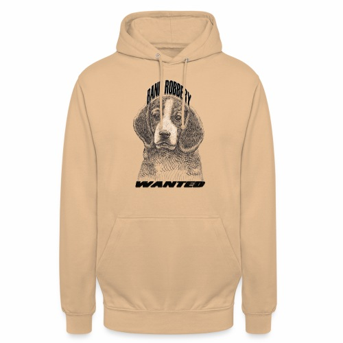 funny bank robbery wanted dog - Unisex Hoodie