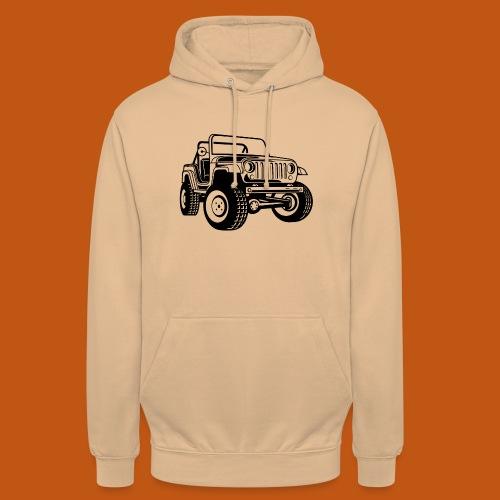 Geländewagen / Jeep SUV 03_schwarz - Unisex Hoodie