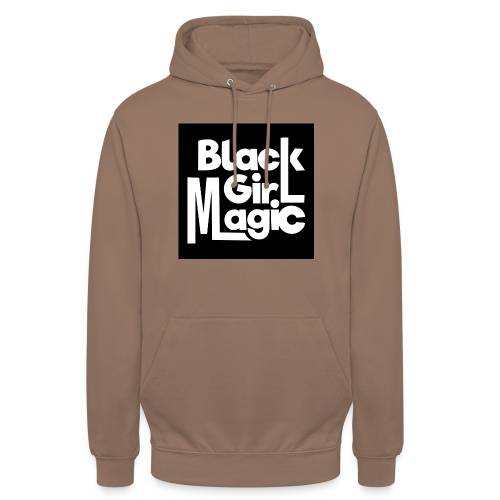 Black Girl Magic 2 White Text - Unisex Hoodie