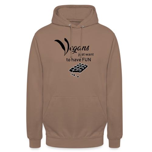 Vegans just want to have fun - tinte chiare - Felpa con cappuccio unisex