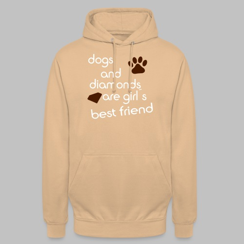 dogs and diamonds are girls best friend - Unisex Hoodie